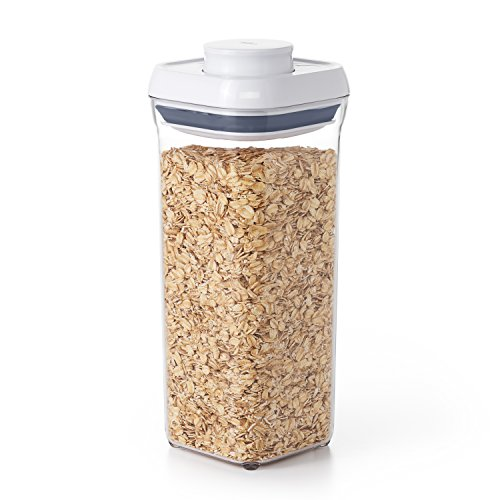 OXO Good Grips Pop Container Small Square - 1.4 L, White/Transparent