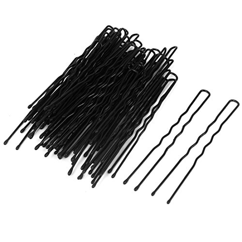 sourcingmap Métal Femme Épingle À Cheveux Barrette U En Forme De Clips Unique Dents 60 Pièces Noir