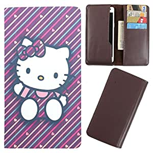 DooDa - For Karbonn Titanium Dazzle 2 S202 PU Leather Designer Fashionable Fancy Case Cover Pouch With Card & Cash Slots & Smooth Inner Velvet