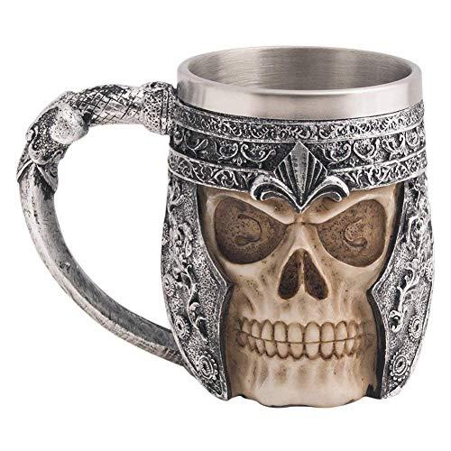 Halloween Edelstahl Schädel Kaffeetasse Viking Schädel Bier Becher Geschenk Für Männer