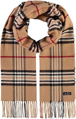 FRAAS Schal aus reinem Cashmink für Damen & Herren - Made in Germany - XXL-Schal - The Plaid - weicher als Kaschmir - Perfekt für den Winter Camel