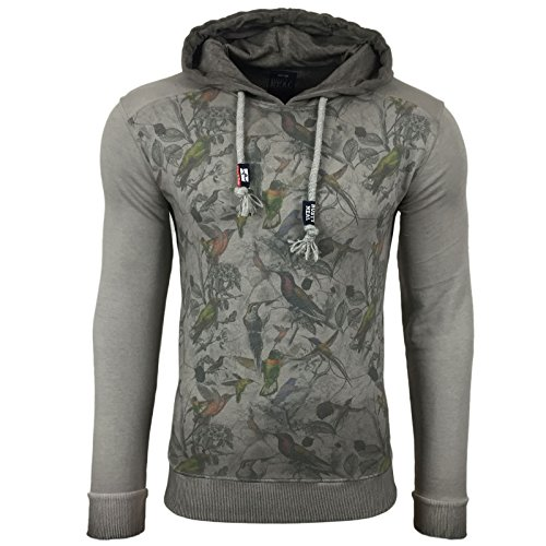 Subliminal Mode  Herren Kapuzenpullover Grau - Grau