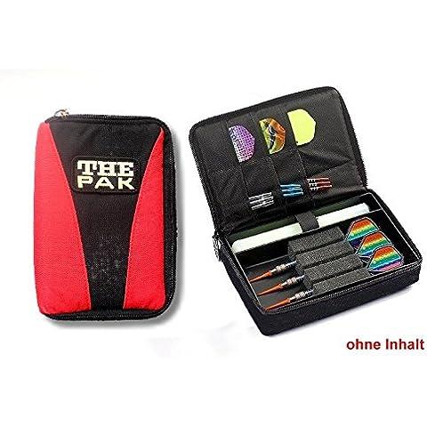 Custodia THE Dart PAK-MULTI, colore rosso/nero resistente nylon-Custodia per 1-2 montato Set di freccette e scomparti aggiuntivi per il torneo e voli di ricambio. (senza contenuto)