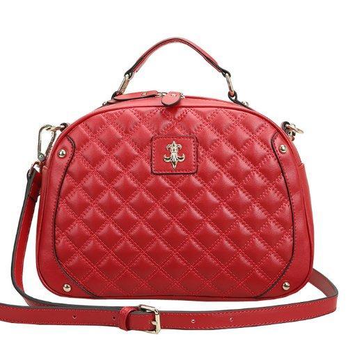 E-Girl Q0443 donna Borse a spalla,Borse a tracolla29x20x11 cm (B x H x T) Red