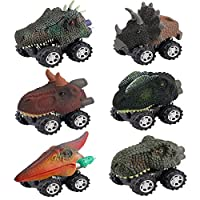 Easony Gifts for 2-6 Year Old Boys Girls, Fun Dinosaur Pull Back Vehicles for Kids Toys for 2-6 Year Old Boys Girls Birthday Gifts Age 2-6 Stocking Stuffer ESUKDC006