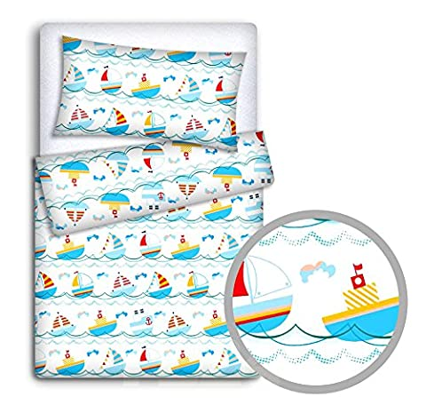BABY BEDDING SET PILLOWCASE + DUVET COVER 2PC TO FIT