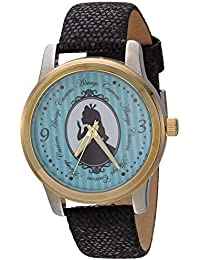 Disney Women's 'Alice' Quartz Metal Casual Watch, Color:Black (Model: WDS000356)