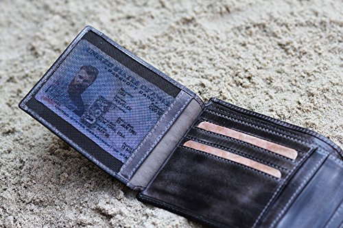 camel active, große Geldbörse aus echtem Leder, hochwertiges Echtleder Portemonnaie für Herren, Geldbeutel braun schwarz / black
