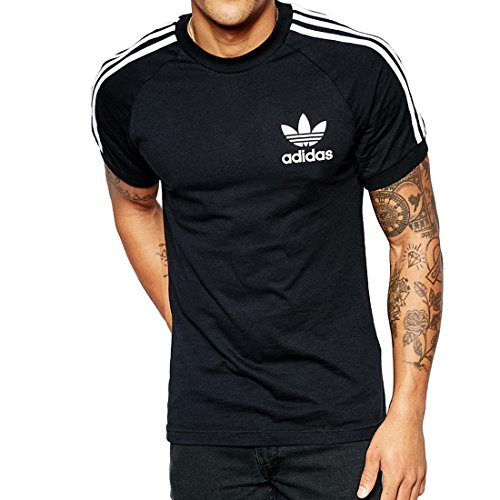 adidas Herren T-Shirt California, Black, L, AJ8834