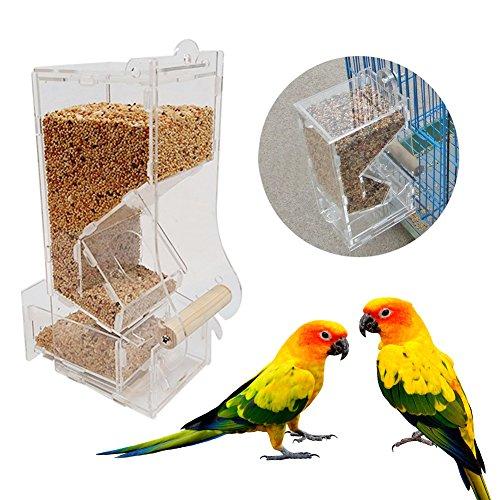 Bird Feeder Futterstationen Automatische Haustier Feeder Neue Modische Acryl Pet Vögel Samen Futter Feeder Käfig Spielzeug Transparent Gesunde Pet Einfach Feed Füttern Werkzeug - Für Die Vögel Samen