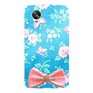HomeSoGood Beautiful Girly Design Blue 3D Mobile Case For LG Nexus 5 (Back Cover)