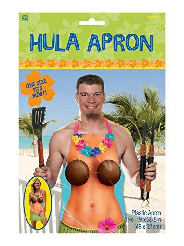 Hawaii-schürze (Hawaii Schürze Hula Girl Küchenschürze bunt)