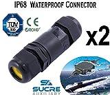 Sucre auxiliaire® 2unités X 16A 450V 2/3/4IP68connecteur de fil de câble électrique étanche 4m de profondeur d'eau, 5-9mm, 2