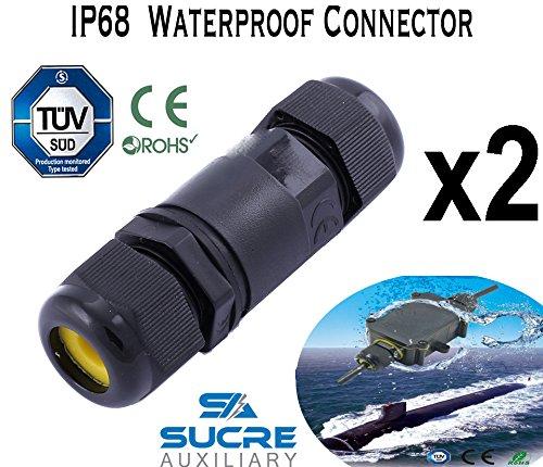 Sucre Auxiliary ® 2 Einheiten x 16 A 450 V 2/3/4 IP68 Wasserdicht Elektrische Kabel Wire Connector 4 m Tiefe Wasser, 5-9mm, 2 7 Pin Einheiten