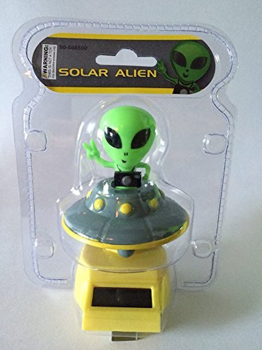 Fun and Cute Toys For Halloween SOLAR POWER DANCING ALIEN (with his/her flying Saucer). by Greenbrier by Greenbrier