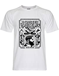 PALLAS Unisex's Beard Vintage Barber Shop T-Shirt