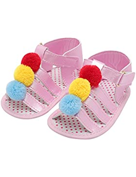 Decdeal Un Par de Sandalias para Bebé Niñas de Primeros Pasos para Verano, Suela Blanda Antideslizante, Prewalker