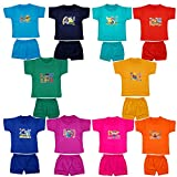 #4: Fashion Biz Baby Boys Half Sleeve Printed T-Shirts and Shorts Cute Collection (Set Of 10Pcs)