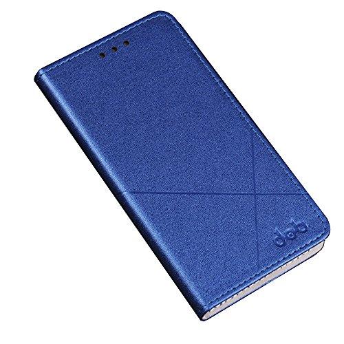 Meizu Pro 7 Hülle,[Ultra Slim Fit] [PC+PU][Card Slot] Ultra Slim Fit(blau)
