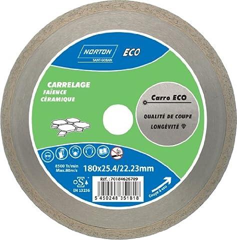 Norton Carro Eco Diamond Cutting Disc for Wet Tiles 180 x 25.4 mm