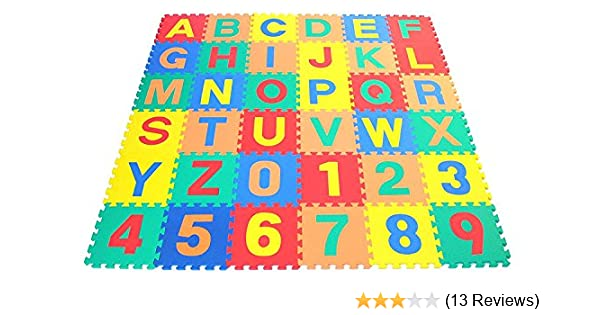 Puzzle Play Mat... 0-9 WSS Soft Alphabet OR Number Both A-Z A-Z /& 0-9