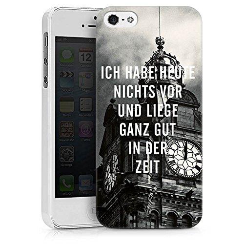 Apple iPhone X Silikon Hülle Case Schutzhülle Zeit Sprüche Faulheit Hard Case weiß