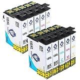 Tigtak Kompatibel Ersatz für Epson 18 18XL T1811 T1812 T1813 T1814 Druckerpatronen, Multipack Patrone Use for Epson Expression Home XP-412 XP-322 XP-422 XP-225 XP-305 XP-405 XP-212 XP-215 XP-415 XP-425 XP-315 XP-102 XP-202 XP-205 XP-30 XP-302 XP-312 XP-325 XP-402 XP-405 XP-405WH Drucker. (4 Schwarz, 2 Blau, 2 Rot, 2 Gelb)
