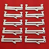 Easy-Shadow - 20 Stück Schlaufengleiter für 50 mm 50mm Schlaufen mit Schlitz - Gleiter 5 cm 5cm Innenlauf für Schlaufenschals / Schlaufenvorhang passend für Gardinenschienen Gardinenstange Vorhangschienen Gardinenbretter Gardinen Laufschienen Deckenleiste - weiß