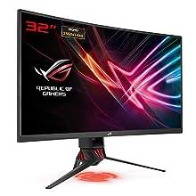 "ASUS ROG STRIX XG32VQ - Monitor gaming curvo 32"" WQHD (2560x1440), 144Hz, Aura Sync, Adaptive-Sync (FreeSync), Gamma colore 125% sRGBc"