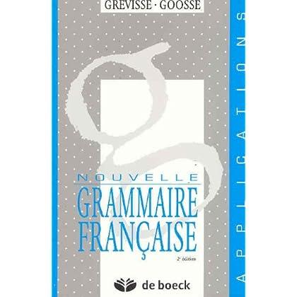 Nouvelle Grammaire française : Application