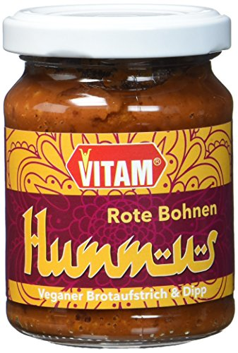 VITAM Rote Bohnen Hummus, 6er Pack (6 x 125 g)