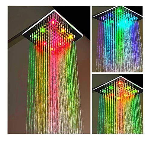 ESTAR-LINE® Große LED Duschkopf Regenbrause 7 Farben