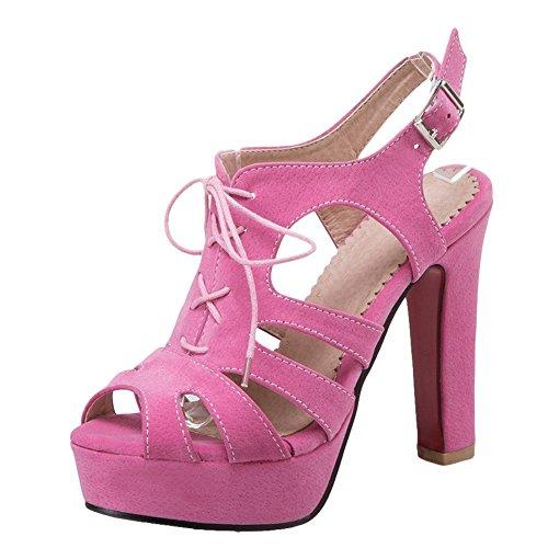 Alto MissSaSa Tacco Rosa col Punk e Strada Sandali Donna rB1Wn1I