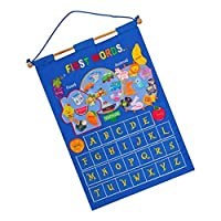 SaniMomo Wall Hanging Learning Calendar Chart Monthly Calendar For Kids Early Education Preschool Learning Aids