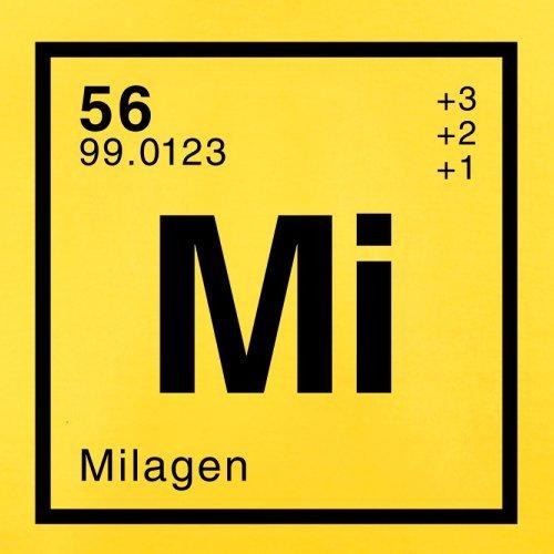 Mila Periodensystem - Herren T-Shirt - 13 Farben Gelb