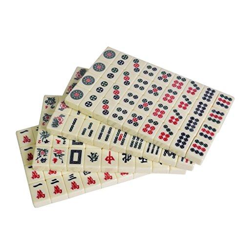 LI JING SHOP - Tourismus reisen Mini Hand reiben Kleine Mahjong, Portable Ausgehen Wohnraum Zimmer klein die Firma zusammen zu bekommen Brettspiel Spielzeug, Größe: 2,2 * 1,4 * 3,0CM
