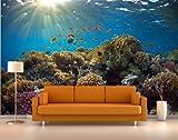 Vliestapete Korallenriff VT481 Größe:400x280cm, Fototapete, Vlies Tapete, High Quality, PREMIUM Bildtapete, Unterwasser Fische Tauchen