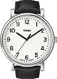 Timex T2N677 Orologio Analogico da Polso, Unisex, Pelle, Nero/Marrone