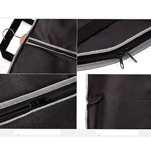 Fyore transpirable ropa bolsa de transporte para traje y Vestido Ropa impermeable doble plegable mango para viaje 120* 60cm, negro, 210*60cm