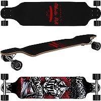 Deuba Longboard Skateboard Komplettboard Stunt Cruiser City Offroad | ABEC 7 & 9 Kugellager | 9-lagiges Ahornholz -【 Modell- & Motivauswahl】