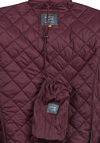 Blend Stanley Herren Steppjacke Übergangsjacke Jacke Mit Stehkragen, Größe:S, Farbe:Zinfandel (73006) - 6
