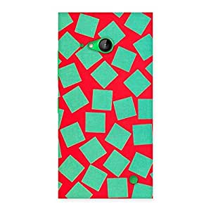 Cute Green Red Print Back Case Cover for Lumia 730