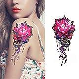 tzxdbh 5Pcs-S Indische Totem Kleine Volle Blume Arm wasserdichte Tattoo-Aufkleber Für Frauen Männer Body Art-In Tattoos Ab Xq