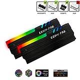 EZDIY-FAB ARGB RAM Kühler RGB DDR Speicher Kühlkörper Kühlweste Fin Strahlung für DIY PC-Spiel Overclocking MOD DDR3 DDR4 (kompatibel mit Aura Sync, RGB...