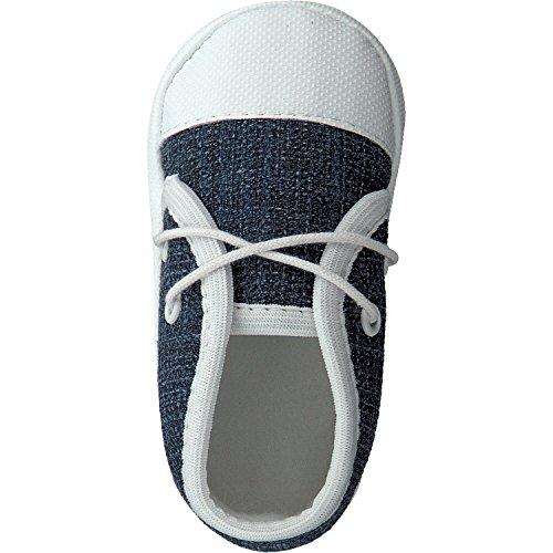 pantau.eu Babyschuhe Taufschuhe Lauflernschuhe Kinderschuhe Babyschühchen Krabbelschuhe, festliche Baby Schuhe, Jungen Mädchen, aus Jeansstoff oder Leinen (Flachs) BLAU-Jeansstoff