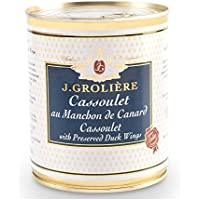 Cassoulet aux Manchons de Canard 820g, recette traditionnnelle du Sud-Ouest sans colorants ni conservateurs