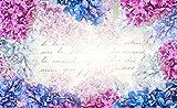Tapeto Fototapete - Blumen Vintage - Vlies 254 x 184 cm (Breite x Höhe) - Wandbild Jahrgang Brief