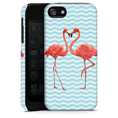 Apple iPhone 5c Hülle Premium Case Cover Flamingo Sommer Vogel Tough Case matt