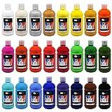 Artina Acrylfarben Set Crylic 24x500 ml Künstlerfarben - Hochwertiges Malerei Acryl Set für Profi- und Hobby-Künstler