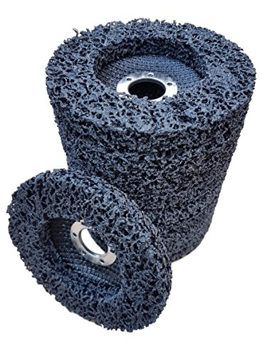 10 x Rostio CSD Scheibe 115 mm schwarz Reingungsscheibe Set | Schleifscheibe Rostentferner für Flex | Winkelschleifer